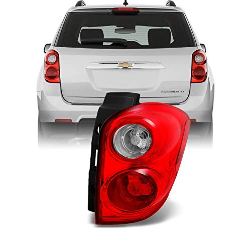 For Chevy Equinox SUV Red Clear Rear Tail Light Brake Lamp Taillamp Repalcement Passenger Right Side