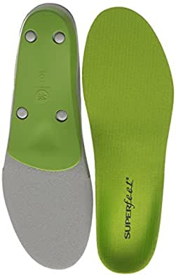 Superfeet GREEN Premium Insoles,Green,B: 4.5 - 6 US Womens/2.5 - 4 US Juniors