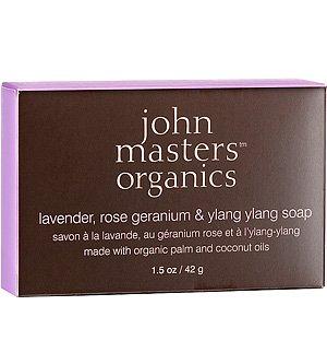 Lavender, Rose Geranium & Ylang Ylang Soap 1.5 oz by John Masters