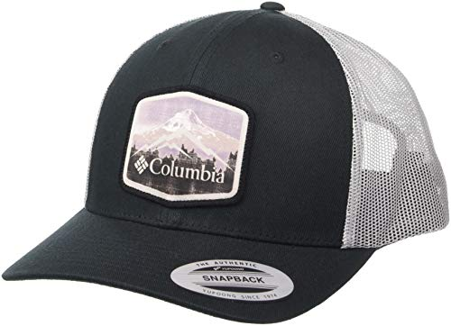 Columbia Men's Mesh Snap Back Hat, Black, Hex Patch One ()