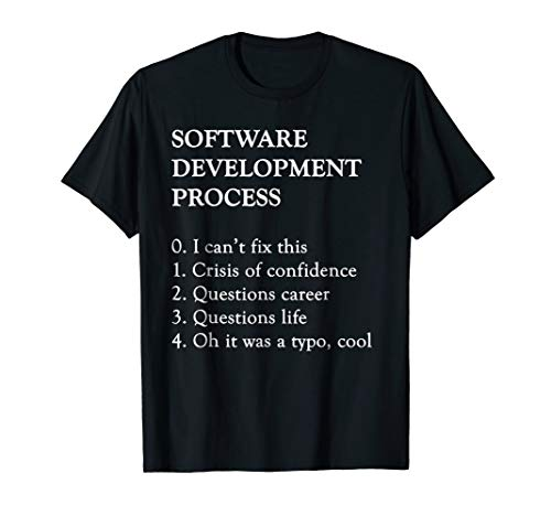 Software Development T-Shirt | Funny Coding Programming Tee (Sql Developer The Network Adapter Could Not Establish)