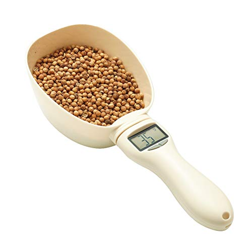 RoyalCare Pet Food Scoop Precise Dog Food Measuring Cup Detachable Cat Food Scooper Digital Scale Spoon with LCD Display for Measuring Pets Food, Five Measuring Units, Button Cell Powered