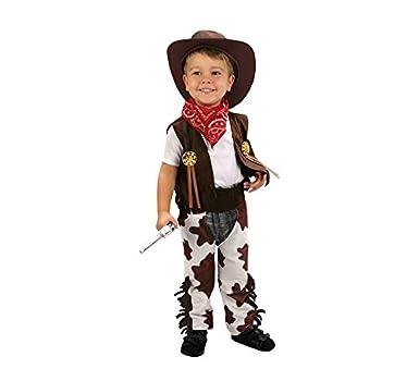 Disfraz de Vaquero marrón y blanco 3-4 años niño  Amazon.es  Ropa y  accesorios 98b92df0c9b