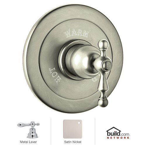 Rohl AC600LM-STN R9464902Epn Ac600Lm Cisal Shower Valve Trim Only with Classic Metal Lever Handle, Satin Nickel by Rohl