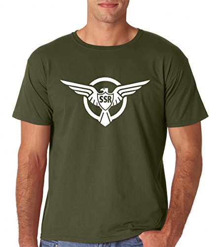 Raw T-Shirts Strategic Scientific Reserve SSR - Super Soldier Premium Men's T-Shirt (Large, Military Green) (Captain America Ssr T Shirt)