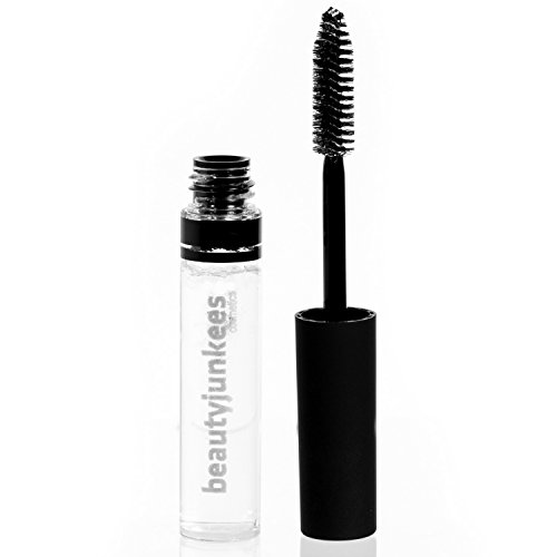 Clear Eyebrow Gel Brow Mascara - Best Browgel Filler for Natural Eye Brow Sculpting, Shaping, Volumizing, Setting, Sealer, Tamer, Safe for Eyelashes, Made in USA, Paraben Free, Maquillaje Para Cejas by Beauty Junkees