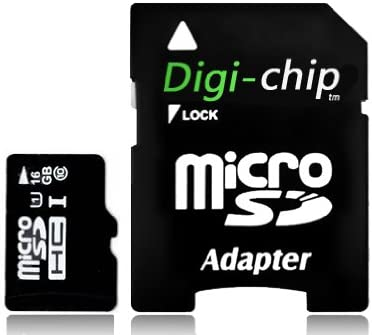 Digi-Chip HIGH SPEED 16GB UHS-1 CLASS 10 Micro-SD Memory Card for Fusion5 XTRA Compact and Allwinner A13 Android Tablet PC
