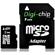 Digi-Chip HIGH SPEED 16GB UHS-1 CLASS 10 Micro-SD Memory Card for Blackberry Z30, Z10 and Q10 cell phones