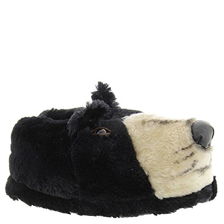 Happy Feet - Black Bear - Animal Slippers - Small