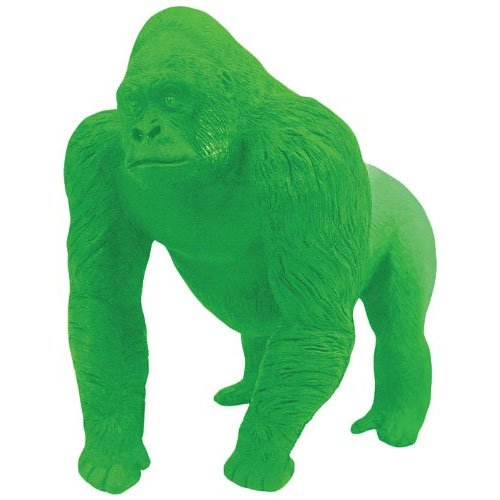 Kikkerland Endangered Species Gorilla Eraser, Green (ER09)