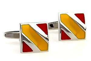 Gemelolandia - Gemelos square colores de españa de forma cuadrada, color rojo y amarillo