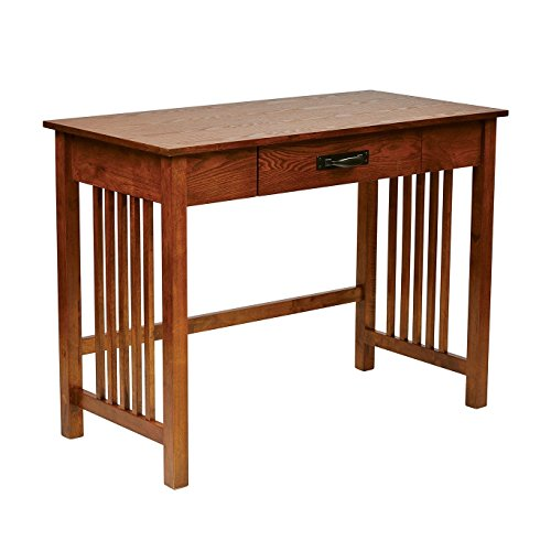 Ash Oak Finish Mission Style Desk with Drawer (30 Inches High X 40 Inches Long X 20 Inches Inches Wide)-assembly Required