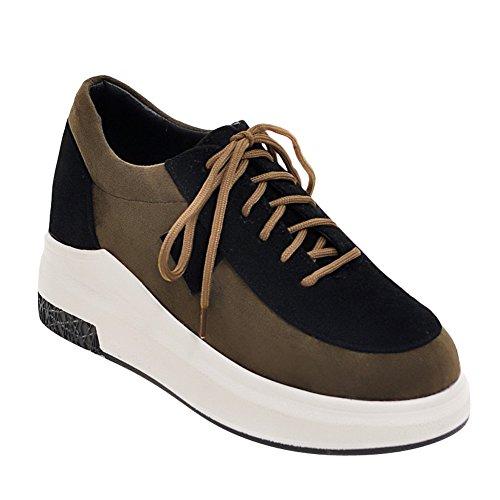 d641c68ff7e Latasa Mujeres Comfort Zapatos De Cordones Multicolores Verde Oscuro (color  Principal)
