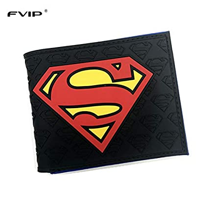 SWVV Anime billeteras Nuevo diseñador Superman Batman Star ...