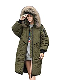 you.u Holiday Deals Trench-Look Women Water Resistent Coat with Faux Fur Hood Trim