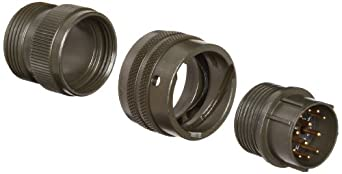 Amphenol Industrial PT06A-14-12P Circular Connector Pin, General Duty, Non-Environmental, Bayonet Coupling, Solder Termination, Straight Plug, 14-12 Insert Arrangement, 14 Shell Size, 12 Contacts