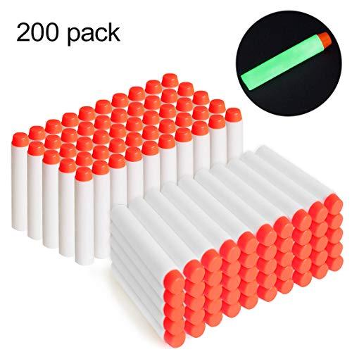 Color: azul. Tamaño: 7.2x 1.2 cm Los dardos son compatibles para cualquier dispositivo N-Strike Aguantan mucho: espuma azul blanda y punta naranja un poco rígida