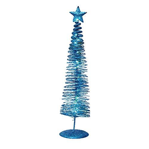 WsloftyGYd - Lámpara de estrella de árbol de Navidad en espiral, decorativa para el hogar, fiesta, día festivo, árbol de...