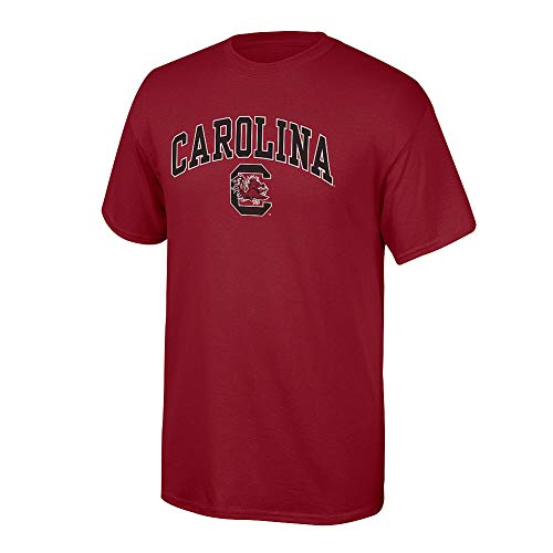 Elite Fan Shop NCAA Men's South Carolina Fighting Gamecocks T Shirt Team Color Arch South Carolina Gamecocks Garnet Large ()