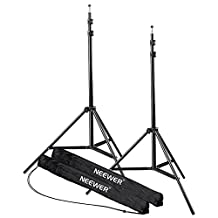 Neewer 7Ft/210cm Aluminum Alloy Photo Studio Light Stands for Photography Lighting, Reflectors, Soft boxes, Umbrellas, Backgrounds (2 Pieces)