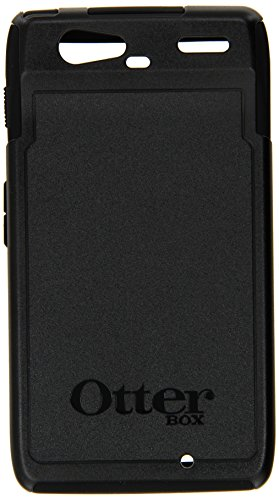 - OtterBox Commuter Series Phone Case - Mobile Case for Motorola DROID RAZR Smartphone - Max Protection Android Cellphone Case with Silicone Ports/Jacks Cover, Clear Screen Protector - 77-19139 (Black)