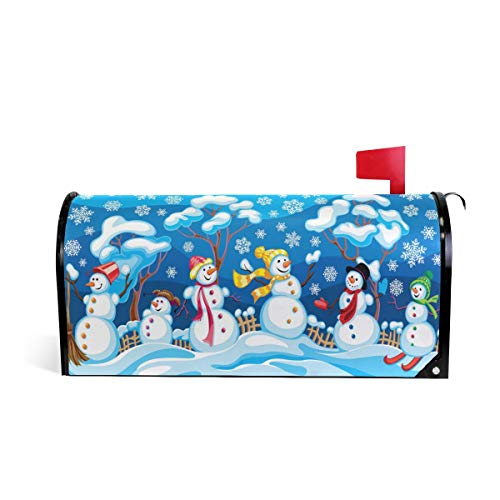 Winter Snowman Magnetic Mailbox Cover Oversized-25.5
