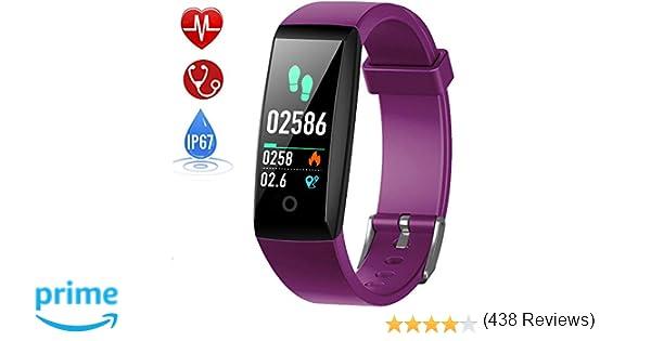 HETP Pulsera de Actividad, Reloj Inteligente con Pulsómetro y Presión Arterial Relojes Deportivos GPS Impermeable IP67 Monitor de Ritmo Cardíaco Actividad ...