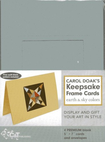 Carol Doak's Keepsake Frame Cards - Earth & Sky Colors: [Pack of - Quilting Frames Framing