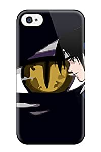 Iphone 4/4s Case Cover - Slim Fit Tpu Protector Shock Absorbent Case (sasuke)