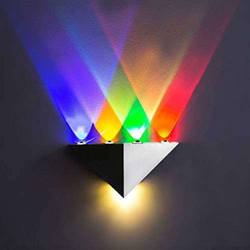 SMALL-CHIPINC - New AC90-265V 5W Aluminum LED Wall Lamp Modern Home Lighting Party Disco Light Indoor Outdoor Colorful Party Ball Disco Light