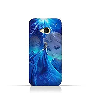 HTC One M7 TPU Protective Silicone Case with Frozen Elsa Design