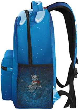 イエローブルーバナナアート ショルダー バックパック 学生 ブックバッグ 旅行 キッド ガールズ ボーイズ用