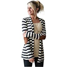 Mose Cardigans For Women Women Oversized Casual Autumn Long Sleeve Striped Patchwork Cardigans Coat