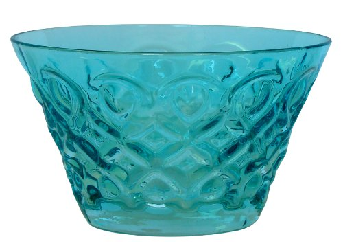 Zrike Brands Teardrop Pressed Glass Bowl, Blue, Set of 4