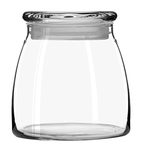 Libbey 71366 Glass JAR with Flat LID 42 Ounce, Multicolor