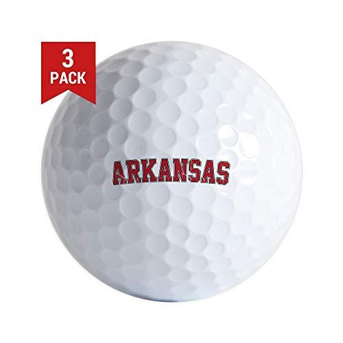 CafePress Arkansas Jersey Golf Ball Golf Balls (3-Pack), Unique Printed Golf Balls