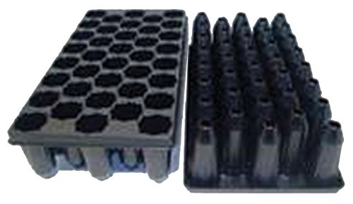 50 Star Shape Deep Cell Plug Tray - - Propagation/Seed Starting Tray - 50 Trays by Growers Solution by Grower's Solution