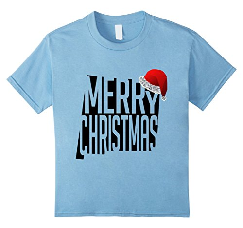 Kids Christmas New Mexico US States Map Novelty Gift T-Shirt 12 Baby Blue (Mexico Costumes Ideas)