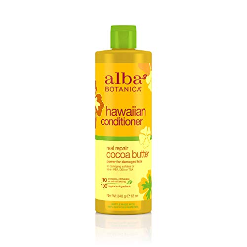 Alba Botanica Real Repair Cocoa Butter Hawaiian Conditioner, 12 oz.