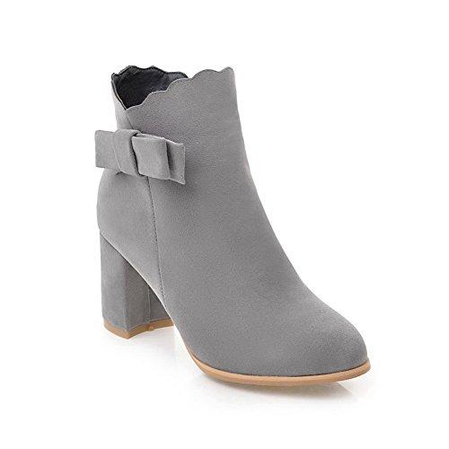 Comfort Womens BalaMasa No Closure Heels Boots Gray Chunky Urethane qXFPFdwv