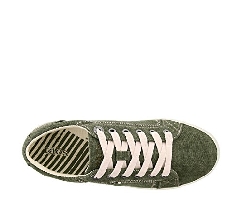 Taos Footwear Damen Star Fashion Sneaker Olivgrünes Canvas