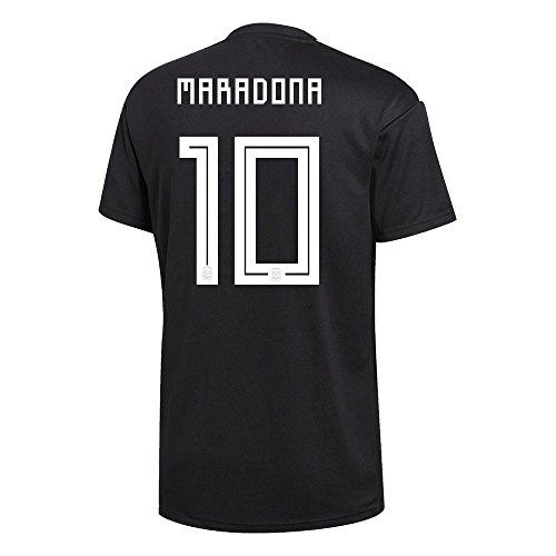 adidas Maradona #10 Argentina Away Soccer Men's Jersey World Cup Russia 2018 ()