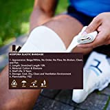 HOSPORA Cotton Elastic Bandage, 4 Inch x 13-15 feet Stretched Length with Hook and Loop Closure, Latex-Free Compression Bandage