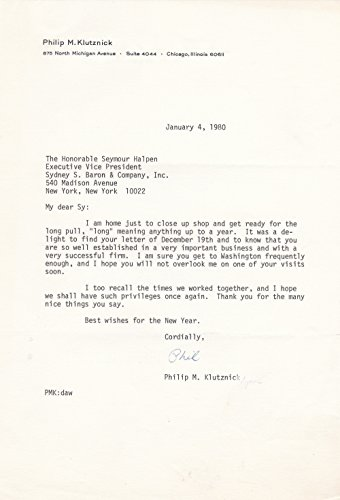 typed-letter-signed-by-american-diplomat-and-leader-of-jewish-organizations-philip-morris-klutznick