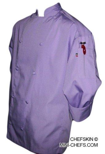 lavender chef coat - 1