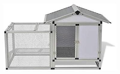 "HomyDelight Small Animal Habitat & Cage, Chicken Coop Aluminum 62.2""x24.8""x36.6"""