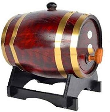 CXD Barriles de Madera de Roble de Vino Personalizadas, para el envejecimiento de la Salsa de Whisky Bourbon Tequila Ron Cerveza del Puerto del Vino Caliente y Mucho más 3L,2