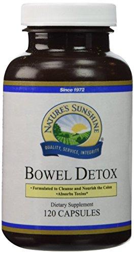 Natures Sunshine Detox - NATURE'S SUNSHINE Bowel Detox Capsules, 120 Count