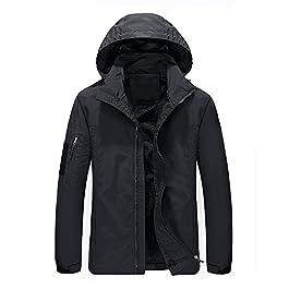 WULFUL Men's Lightweight Windbreaker Outdoor Causal Jacket with Hood Water Resistant Shell