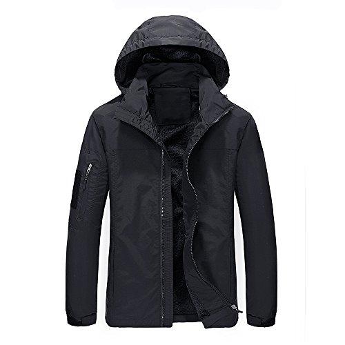 WULFUL Men's Causal Jacket Windproof Outdoor Sportswear Lightweight Windbreaker Jacket with Hood by WULFUL